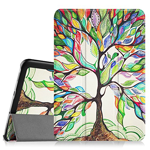 FINTIE Case for Samsung Galaxy Tab S2 8.0 - Super Thin Lightweight SlimShell Stand Cover with Auto Sleep/Wake Feature for 2015 Galaxy Tab S2 (Model: SM-T710 / T715 / T713 /T719), Love Tree