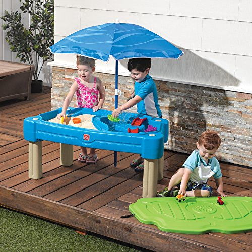 Cascading Cove Sand and Water Table is one of the best outdoor water toys for toddlers