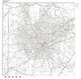 Working Maps San Antonio, TX Zip Code Map Laminated