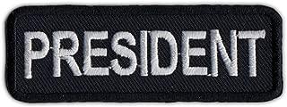 Motorcycle Biker Jacket or Vest Patch - President - Member Rank, Position, Status Patch