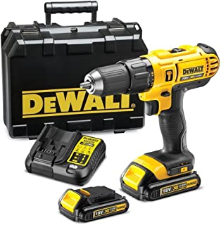 DeWalt 18V Li-Ion Cordless Compact Hammer Drill Driver, Yellow/Black, 13mm, DCD776S2-B5