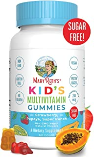 Vegan Kids Multivitamin Gummies by MaryRuth's - Organic Ingredients - Immune Boost - Methylfolate - Sugar Free - Non-GMO V...