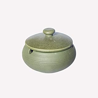 Hoobar Ceramic Ashtray with Lids,Windproof Cigarette Ashtray for Indoor Use, Ash Holder for Smokers, Desktop Smoking Ash T...