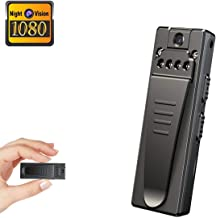Mini Spy Camera, Full HD 1080P Portable Mini Nanny Cam with Night Vision and Portable Pocket Clip Wearable Body Camera Video Recorder,Small Security Camera for Home and Office(Without Card)