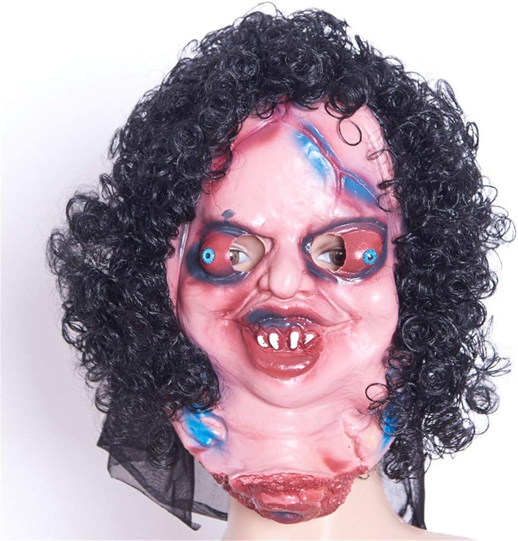 NUOKAI Halloween Maske Terrorist Kopfbedeckungen Ghost Scary Mnner und Frauen Grimasse Masquerade Teufel Latex Clown Maske, Hana Zizi Maske