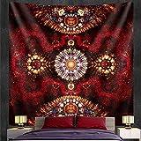 PPOU Tapiz de Mandala Indio, Tapiz de brujería, Colgante de Pared, Estilo Bohemio, Manta Decorativa, paño de Fondo A18, 130x150cm