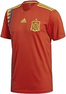 قميص كرة القدم جيرسي الاسباني للرجال من اديداس، لون احمر