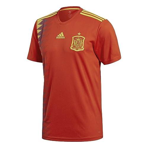 adidas Camiseta de la Selección Española de Fútbol para el Mundial 2018, Oficial, Hombre, 1ª Equipación, Talla M
