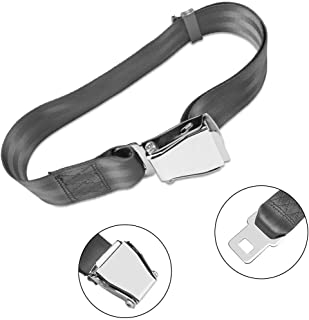 Airplane Seat Belt Extender, 7-35 inch Adjustable Portable Grey Airline Belt Extender, Compatible with All Major Airlines Except Southwest