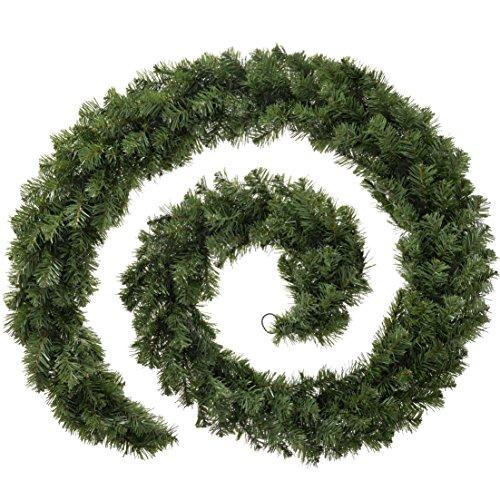 WeRChristmas-Ghirlanda multifunzione illuminata, extra spessa, con 80LED a luce calda, colore naturale, lunghezza 2,7metri, plastica, Green, 270 x 15 x 15 cm