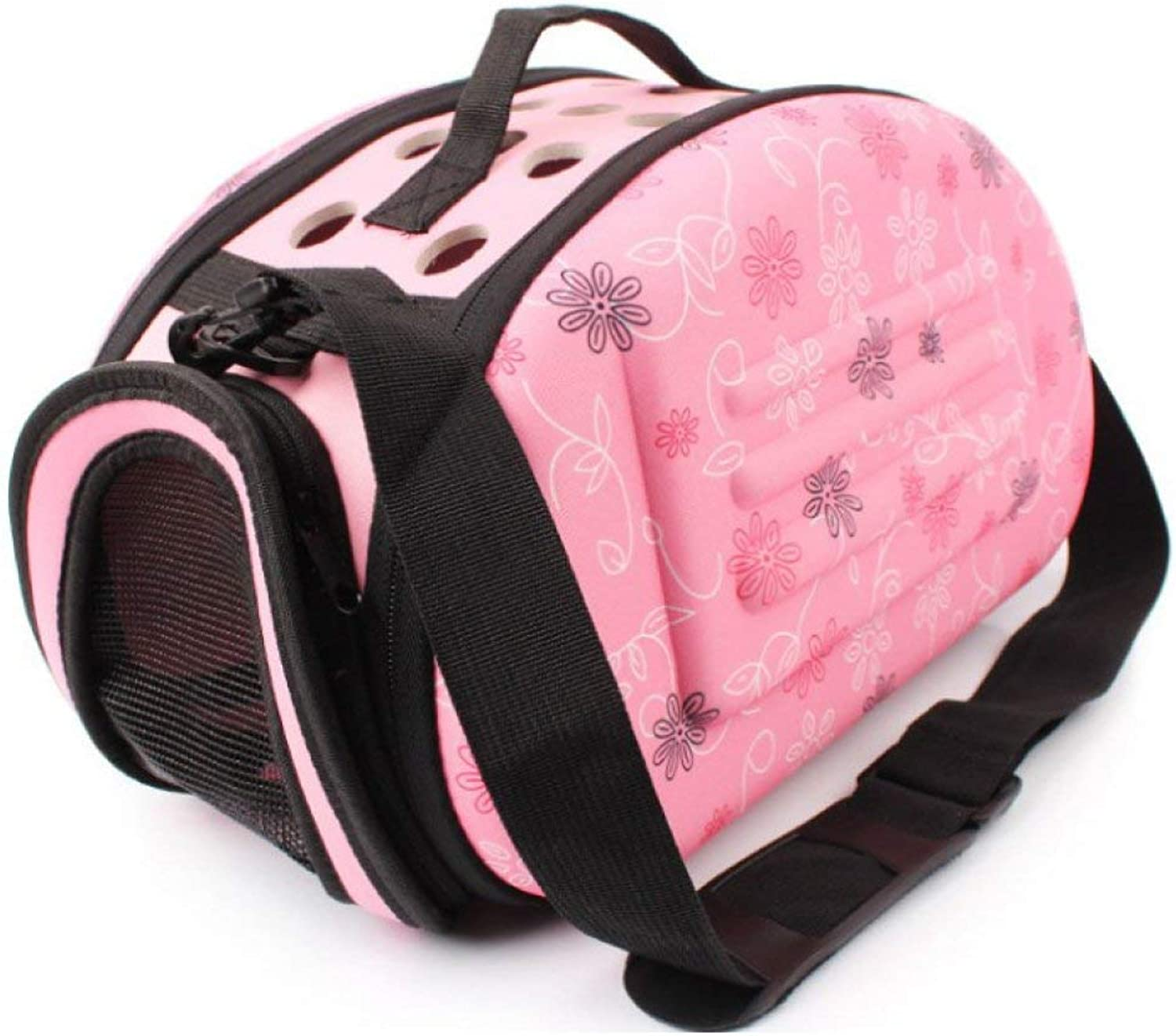 Pet Carrier Seat Pet Backpack Travel Pet Bag Outdoor Carry Bag Dog Bag,Pink Pet Carrier Crate