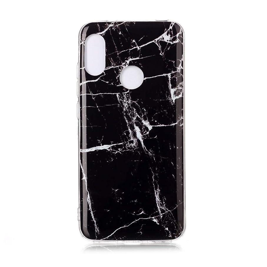 床マラドロイト裁判所小米科技Redmi 6 Proのカラー描画パターンIMD技量ソフトTPU保護ケースのために brand:TONWIN (Color : Black)
