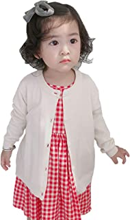 TAIYCYXGAN Baby Toddler Girls Boys Knit Cardigan Sweaters Unisex Kids Button-Down School Uniforms Sweater Jacket Solid Color
