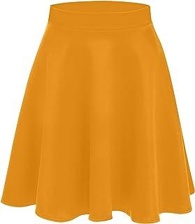 277652f04af095 Women's Midi Skater Skirt Flared Stretch Skirt for Women Reg & Plus Size - Made  in