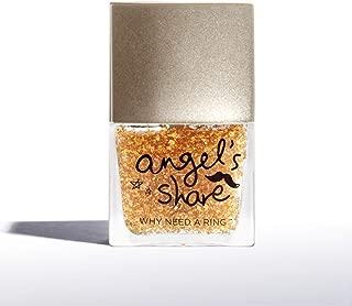 ANGELARIEL 24K Gold Leaf Top Coat, Glitter Gold Flake, Nail Polish Sparkle Every Day, 14 Free Non-Toxic, 0.37 fl oz