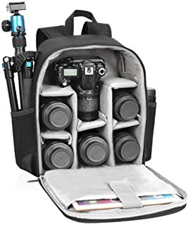Camera Backpack Bag Professional for DSLR/SLR Mirrorless Camera Waterproof, Camera Case Compatible for Sony Canon Nikon Camera and Lens Tripod Accessories