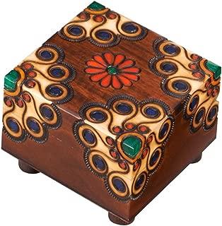 Polish Handmade Wooden Trick Secret Puzzle Box Floral Linden Wood Keepsake Jewelry Box