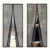 OOTO Mosquitera magnética para puerta, 2 unidades, para puerta de balcón y terraza, montaje sencillo sin agujeros, 90 x 210 cm