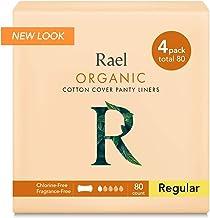 Rael Certified Organic Cotton Panty Liners, Regular – 4Pack/80 total –..