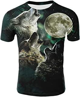 Spring and Summer Factory Direct Sales Wolf 3D Printed T-Shirt Milk Silk Men and Women 3D Tshirt