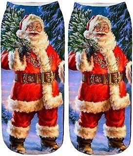DEELIN Sale Christmas Socks Xmas Gift Womens Socks Unisex Casual Work Business Socks 3D Christmas Santa Elk Printing Mediu...
