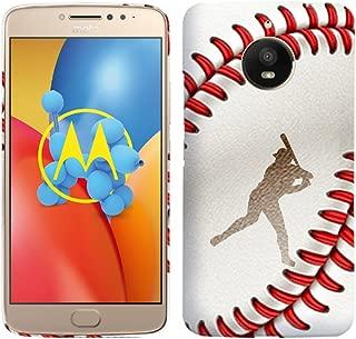 Moto E4 Plus Case - Girls Baseball Hard Plastic Back Cover. Slim Profile Cute Printed Designer Snap on Case by Glisten