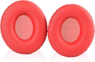 Solo 1.0 Earpads Replacement Ear Pad Cushions Cover Compatible for Monster Beats by Dr.Dre Solo 1.0 Solo HD On-Ear Headphones (Red)