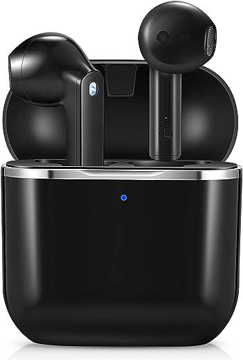Ecouteur Bluetooth, yobola Ecouteurs sans Fil 5.1 Sport Étanche Hi-FI Son Stéréo, Contrôle Tactile, Microphones Intégrés, 25 Heures Durée de...