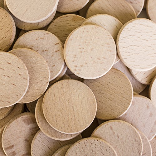"""Round Unfinished 1.5"""" Wood Cutout Circles (100 Pieces)"""