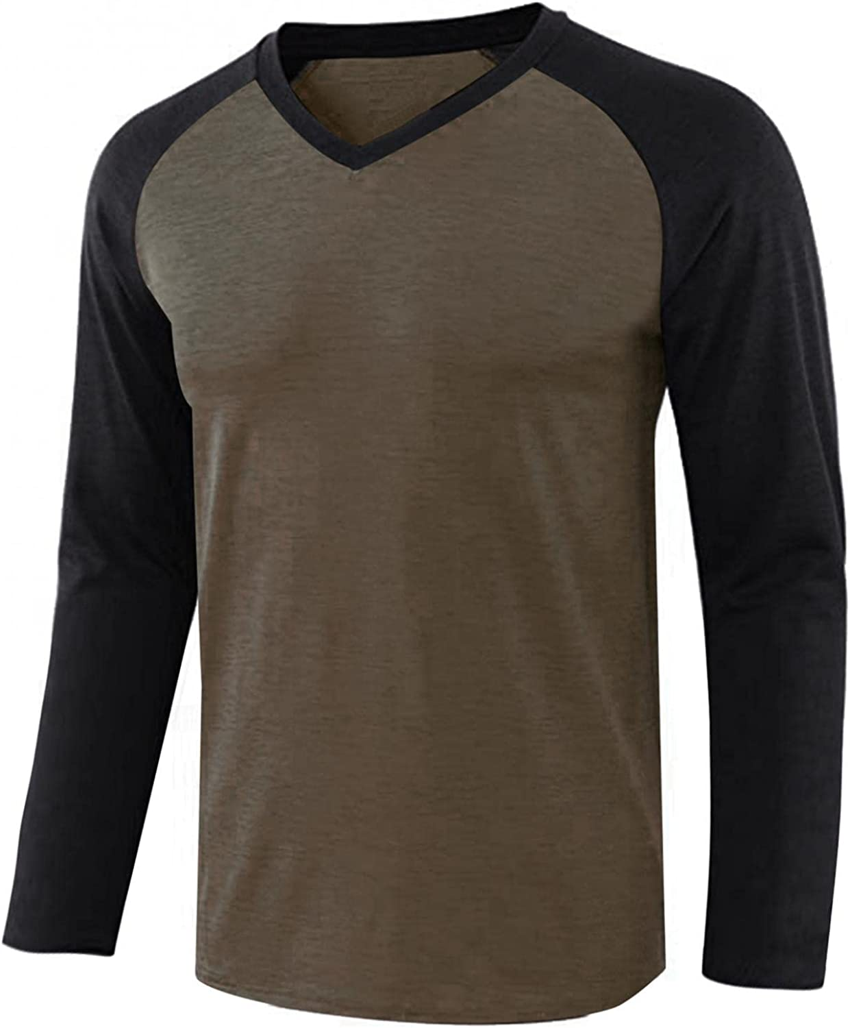VEKDONE Long Sleeve Our shop OFFers the best service 70% OFF Outlet Tee Shirts Men Lightweight Basic Casual for