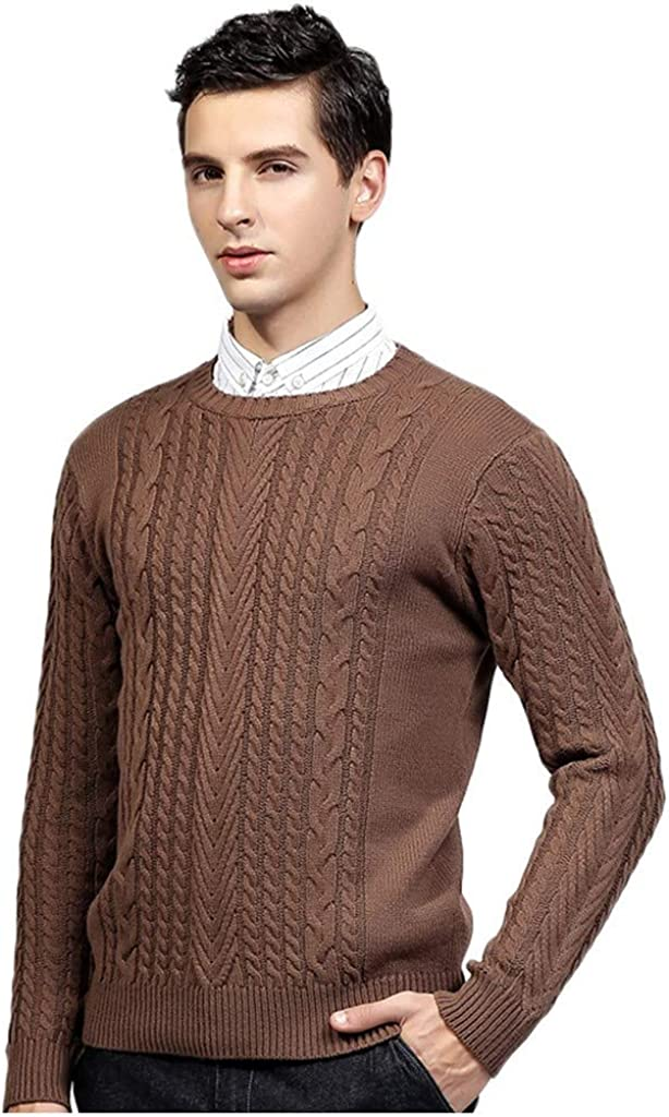 MODOQO Men's Pullover Sweater Long Sleeve Winter Warm Soft Knitted Crewneck
