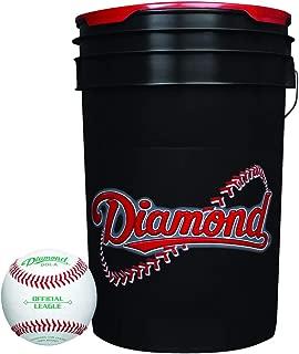 Diamond Dol-A Official League Leather Baseballs & Bucket 30 Ball Pack W/Bucket