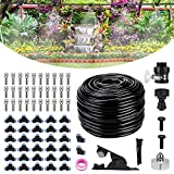 Bearbro Kit Nebulizadores para Terrazas, Sistema de Enfriamiento para Exteriores, DIY Kit Patio Nebulizacion, para Exteriores jardín Pergola Trampolín de Invernadero Parque Acuático (59.0FT/18M)
