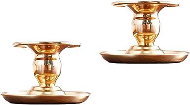 Retro Wrought Iron Candle Holder, European Style Creative Decoration Atmosphere Candle Holder, Wrought Iron Cone Candle Ho...
