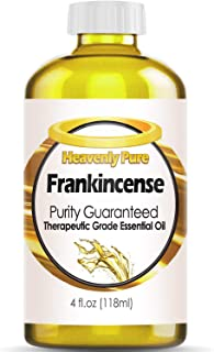 Heavenly Pure Frankincense Essential Oil 100% Pure & Natural Frankincense Aroma Therapeutic Grade Essential Oil (Huge 4 OZ - Bulk Size) with Dropper, 6L