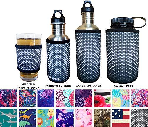 Koverz isolatoren - 6 maten & 40+ stijlen - Bierblik/fles | Koffie/bierpint mouw | 16oz. Mason Jar | 16-18oz (500ml)| 24-30oz (750ml)| 32-40oz (1000ml)| Geïsoleerde Neopreen Water Bottle Sleeve