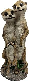 KERDITOO Meerkat Family Garden Statue Garden Art 15.35 Inches Resin Statues Gnome Yard Art