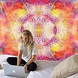 GenericBrands Purple Bohemian Mandala Tapestry Art Hippie Colgante de Pared Apartamento Dormitorio Decoración de la habitación Decoración del hogar Toalla de Playa Yoga Mat