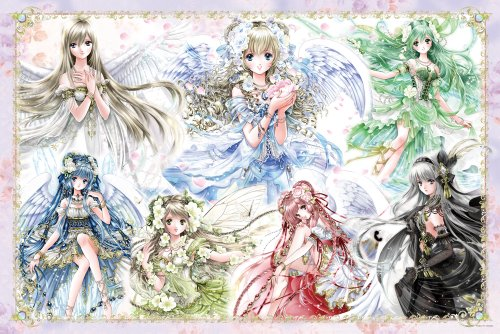 The Yanoman Angels 10-1247 7 Color 1000 Piece (Japan Import)