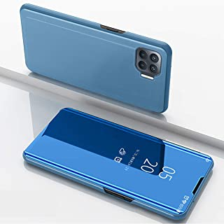 Hicaseer Case for Oppo A93, Ultra-Thin Smart Flip Perspective Mirror Cover, Fashion Bracket Function Shell Case Cover for ...