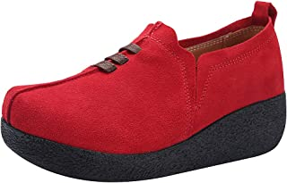 rismart Donna Zeppa Piattaforma Scivolare su Comfort Sneaker Scarpe