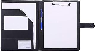 Folder A4 Clipboards Folder Hardboard Folder for Legal Pad Faux Leather Folder Work Writing Foldover Clipboard with Cover ...