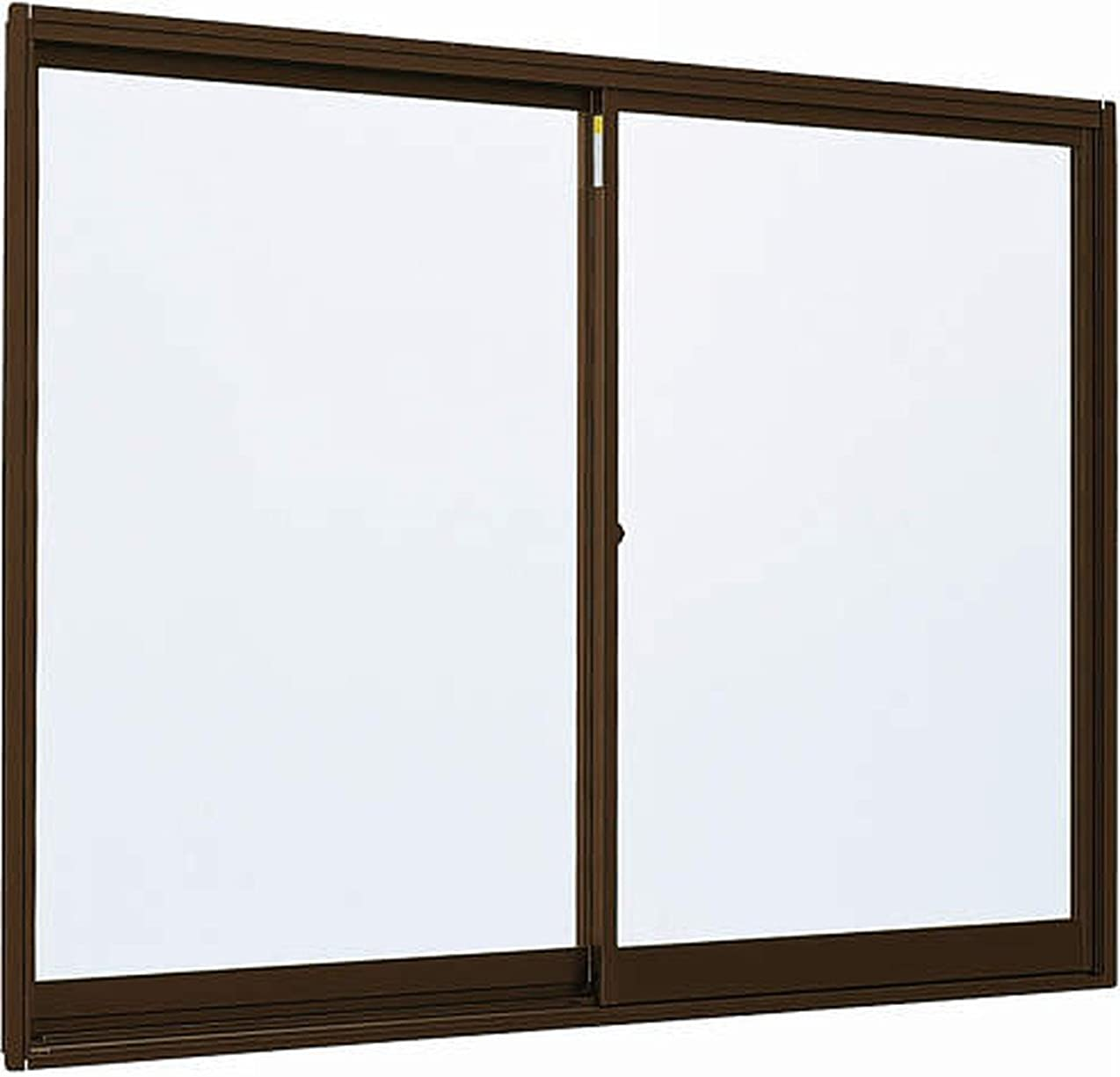 罰内側ぬいぐるみメーカー受注生産品 アルミサッシ YKKap 簡易サッシ 倉庫?物置?工場等 「3SH-V」 引違い窓 半外付型 W 1240mm×H 450mm[1204] 窓 引き違い 半外付け 単板ガラス シングルガラス 型ガラス-不透明(4mm) B1:ブラウン