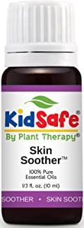 Plant Therapy KidSafe Skin Soother Synergy Essentail Oil Blend. Blend of: Palmarosa, Cedarwood Atlas, Lavender, Coriander, Geranium Egypt, Patchouli, Rose Absolute and Sandalwood. 10 ml (1/3 oz).