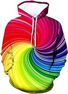 IHGTZS Sweatershirts Men's 3D Printed Hoodie Hooded Loose Long Sleeve Sweatershirt Tops