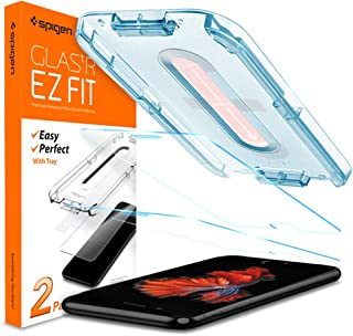 Spigen iPhone 8 GLAStR EZ FIT 2 Pack Tempered Glass Screen Protector with easy install tray - World strongest