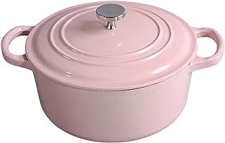 l.e.i. Enamel Cast Iron Soup Pot Casserole 24cm 4L Thicken Iron Pot Cooker Not Sticky Enamel Pot