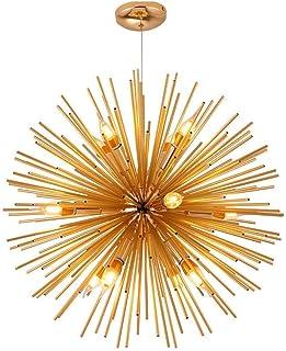 Chandelier, 12 Lights Chandeliers 25 inches mid Century Branch Pendant Lighting Adjustable Globe Hanging Indoor Ceiling Li...