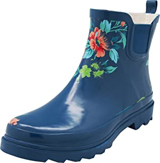NORTY - Womens Ankle Rain Boots - Ladies Waterproof Winter Spring Garden Boot