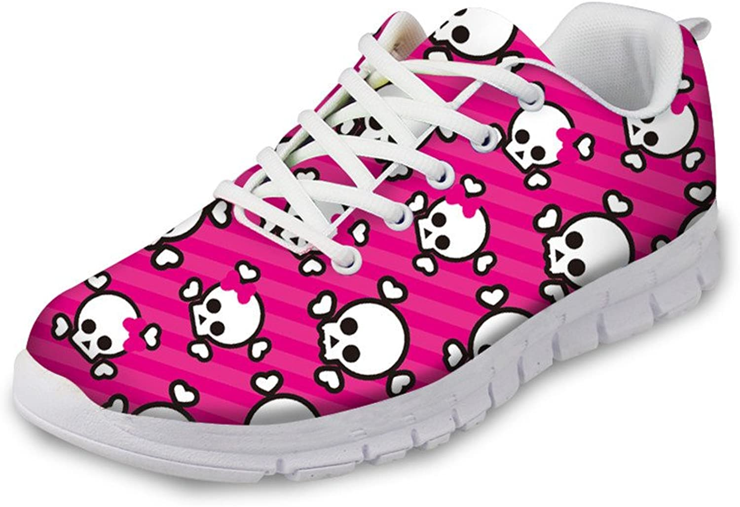 Chaqlin Trendy Women shoes Skull Pattern Breathable Trail Sneakers